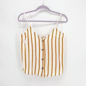 Live 4 Truth Button Front Striped Cami Tank